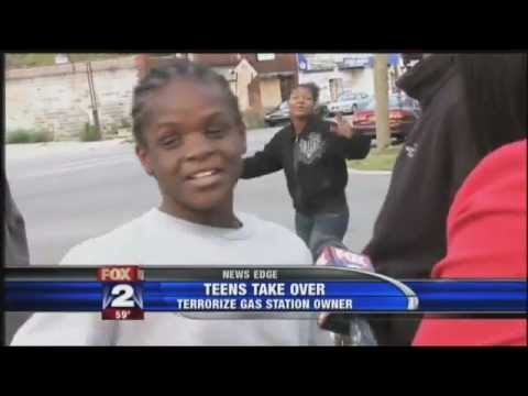 Urban Youths Take Detroit Gas Station Hostage ~ Dis Bad Crew Gas Station