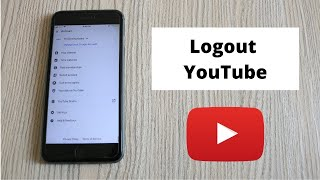 How to Logout oḟ YouTube Account on Mobile (2021) | Sign out of Youtube Account