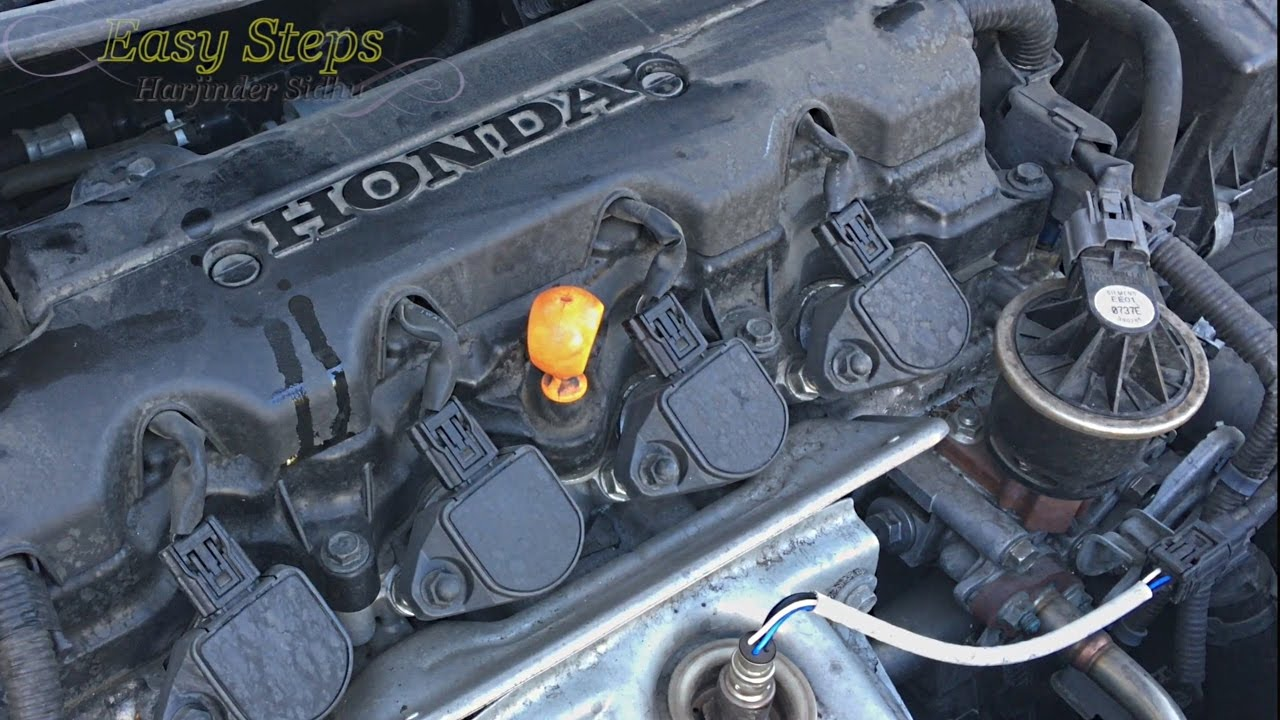 change engine oil oil filter  honda civic