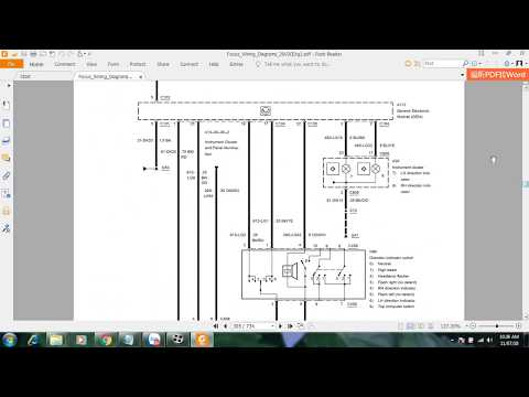 Ford Focus 2003 Wiring Diagrams Youtube