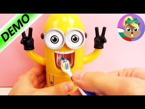 Миньон-автомат за паста за зъби - измий си зъбите със Миньоните!