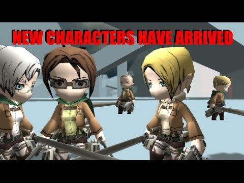 New October 2014 Characters for Attack on Titan Tribute Game - Hanji arrives - with Rustin