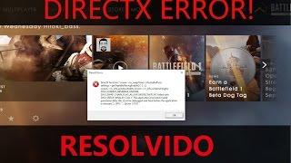 BATTLEFIELD 1 - ERRO DE DIRECTX [RESOLVIDO] - Videourl de
