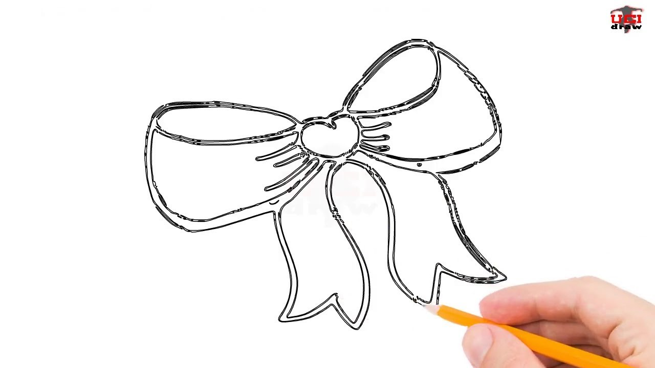 Easy Bow Tie Drawing Ideas A Simple Bow Tie Outline For Beginners