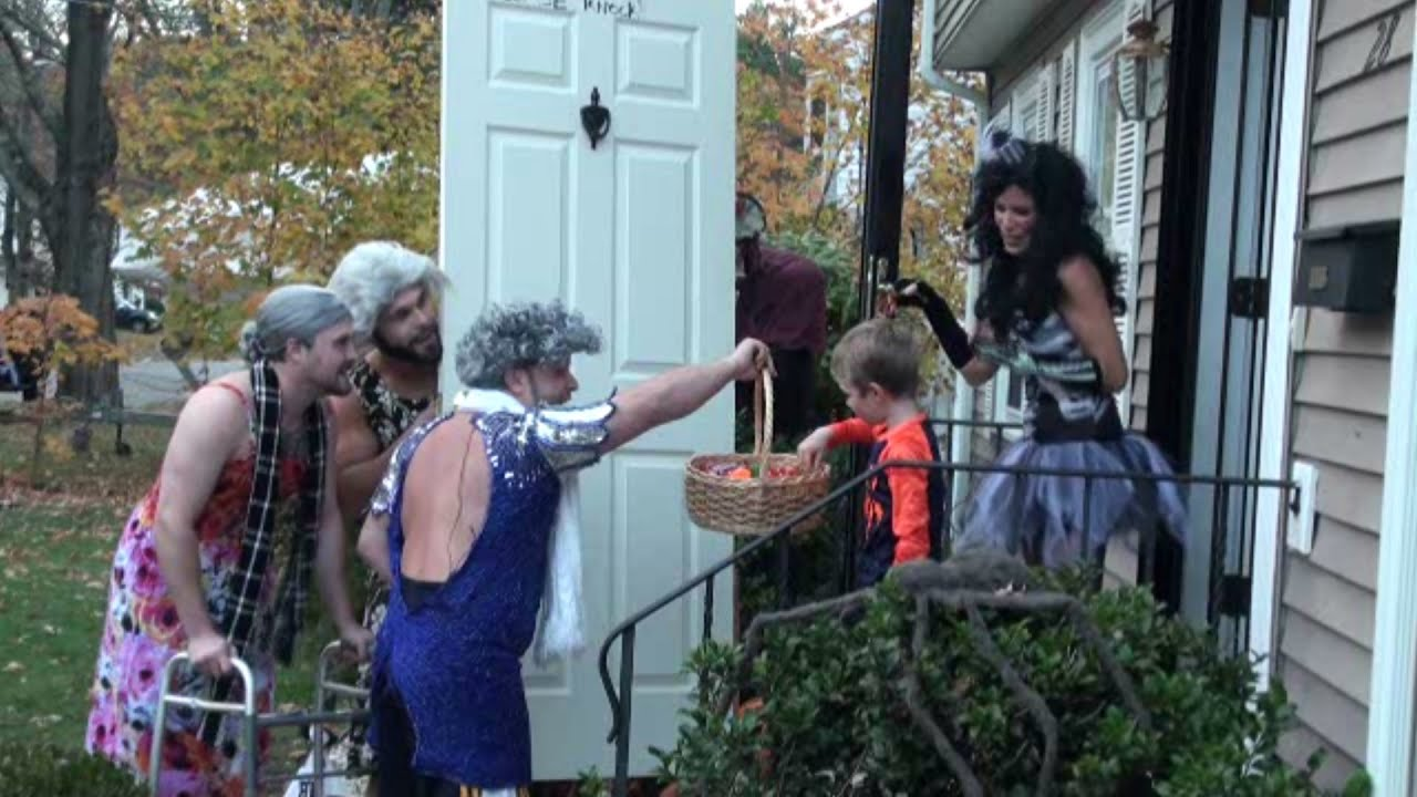'Grandmas' Reverse Trick or Treating -- Halloween Prank