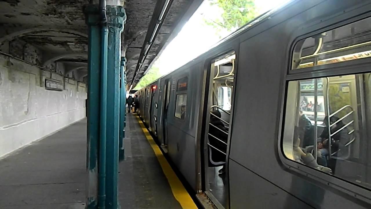 MTA NYCTA Coney Island Bound Alstom R160B (N) Train @Fort ...