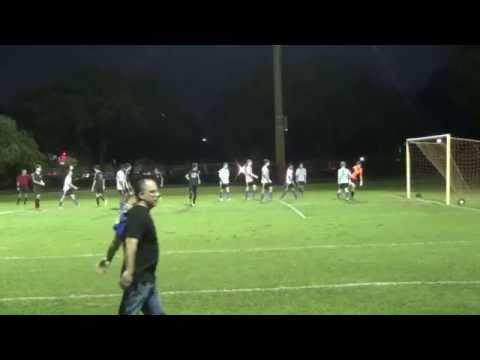 2014-4-30 U14 Plantation Copa vs U15 Weston Green. Christian Nielsen guest goalie for Plantation