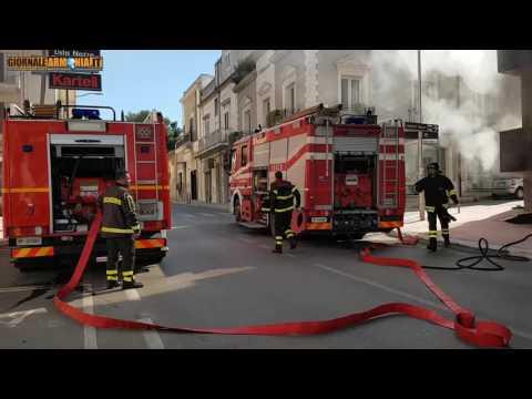 Incendio Via Roma San Giorgio Ionico - ©Giornale Armonia 02-03-2017
