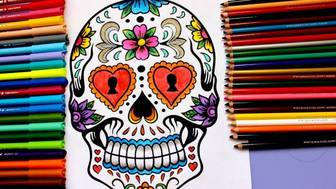 Aprende A Colorear A Una Catrina O Calavera Para Dia De Muertos