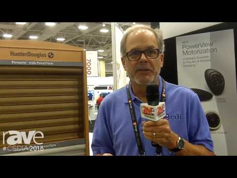 CEDIA 2016: HunterDouglas Shows Pirouette with PowerView in the Custom Decorators Booth