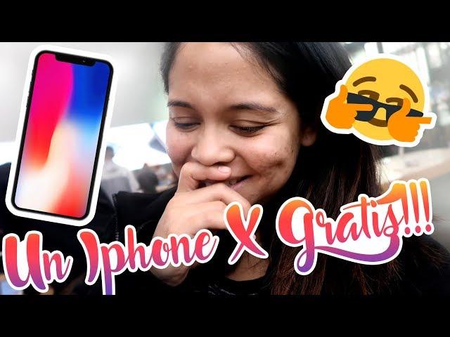 Me dieron un iPHONE X GRATIS en la tienda APPLE! 😲 #VLOGMAS10
