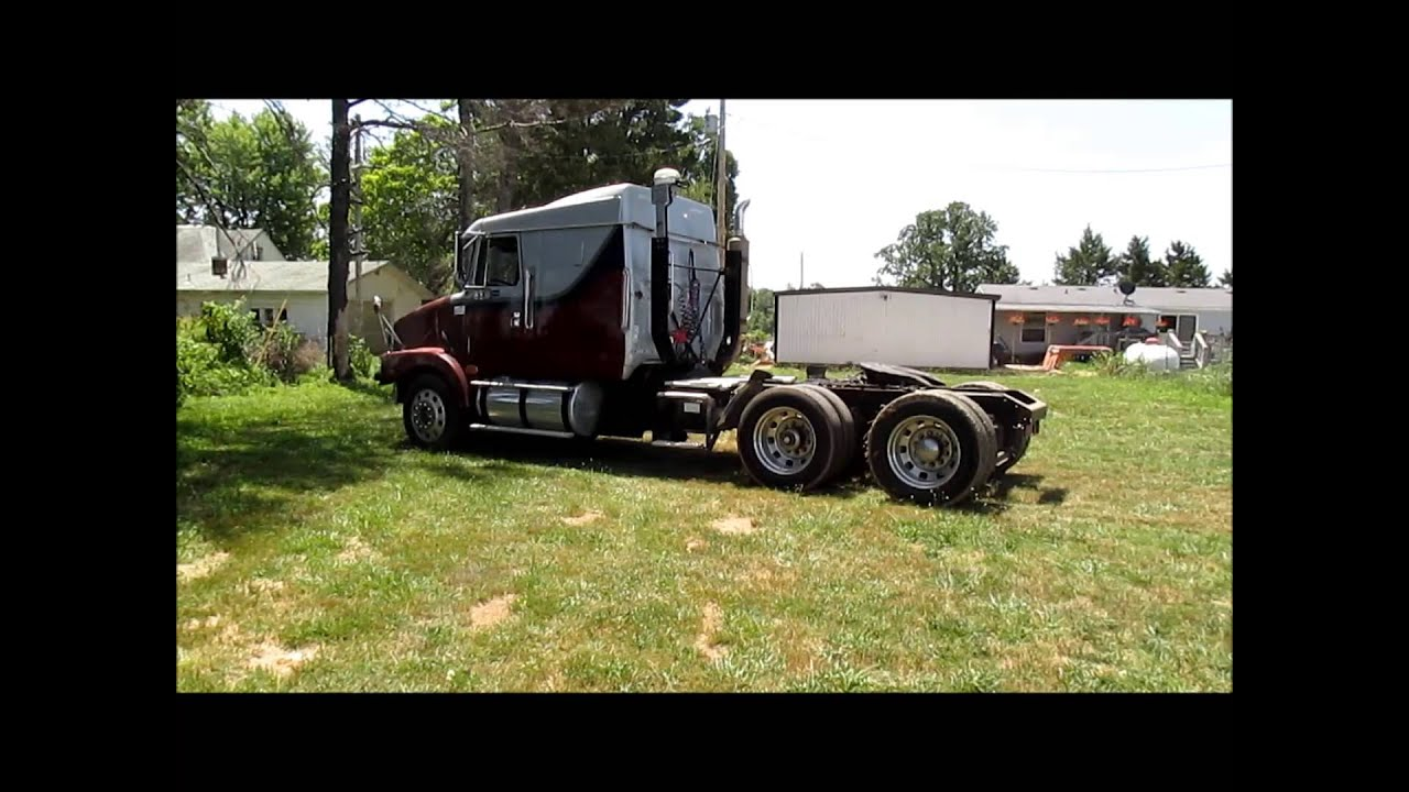1995 Volvo WIA semi truck for sale | sold at auction August 20, 2013 - YouTube