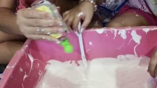 Buat jumbo Slime Original || 3 kilo lem fox || Moga berhasil..