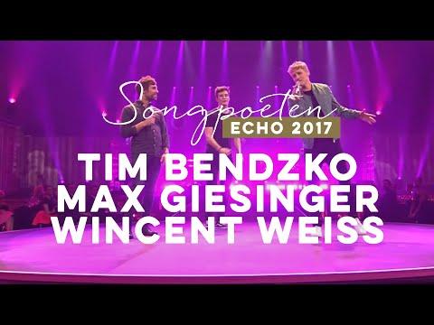 Tim Bendzko / Max Giesinger / Wincent Weiss – Hits-Kollabo Medley - Echo 2017 #Echo2017