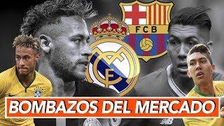 Neymar al Madrid y Firmino al Barca y otras bombas que se rumoran para Madrid y Barca