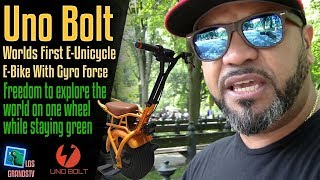Uno Bolt: World's First E-Unicycle / E-Bike With Gyro Force 🚳 : LGTV Review