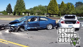 Car Crash Compilation | Accidentes de Carros coches y vehiculos | slow motion | GTA 5