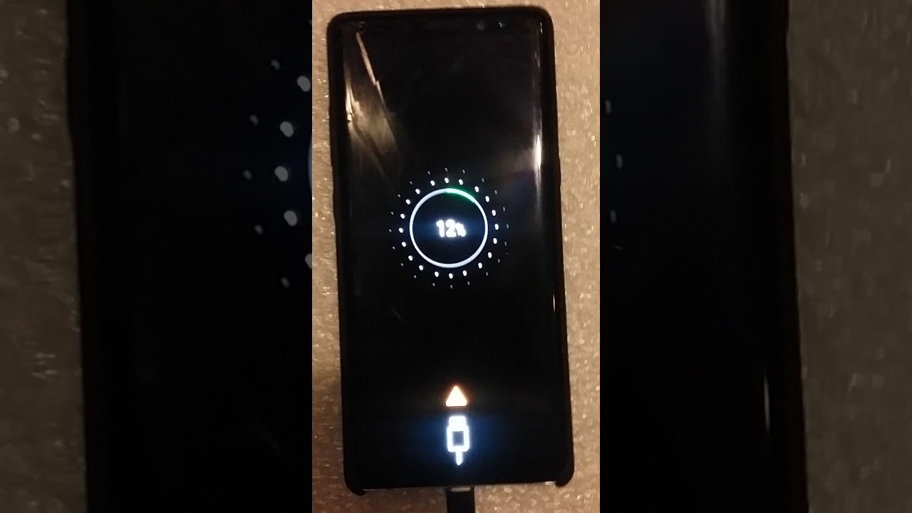 Note 8 yellow warning when charging!