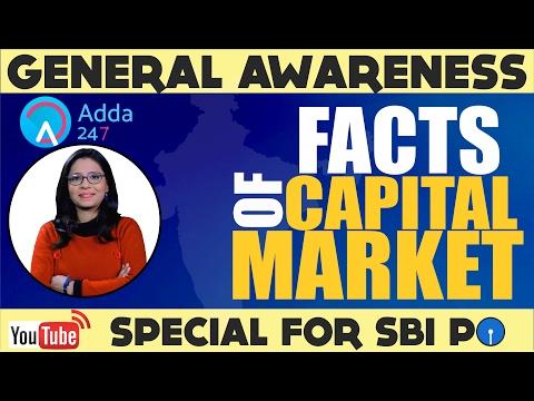 The General Awareness Show - Facts of  Capital Market(SEBI, DEMAT A/C, SHARES ,M-CAP) SBI PO 2017)