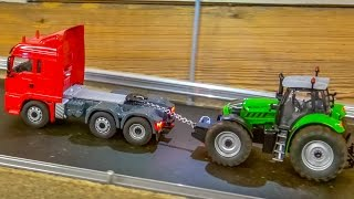 RC trucks & tractors in ACTION! Big R/C farming fun!