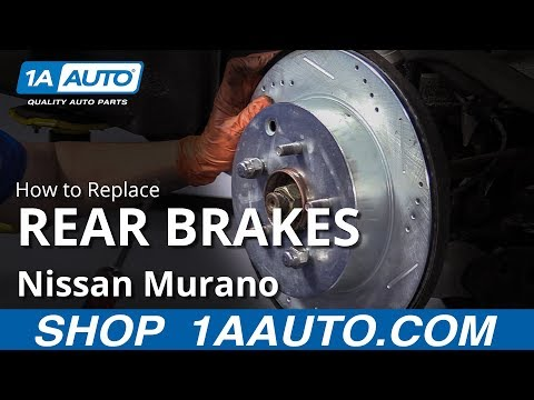 How to Replace Rear Brakes 09-14 Nissan Murano