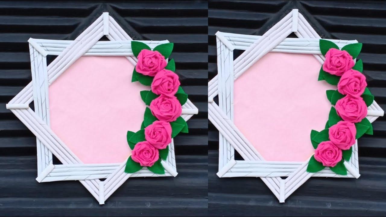 Ide Kreatif Membuat Bingkai Foto Dari Kertas Photo Frame Youtube