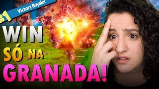 VENCI SÓ COM UMA GRANADA! | Fortnite Battle Royale
