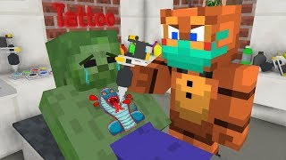 - FNAF vs Monster School TATTOOS CHALLENGE Minecraft Animation