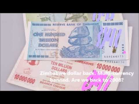 Zimbabwe Dollar Back. Multi Currency Banned. Are We Back To 2008 Crisis?