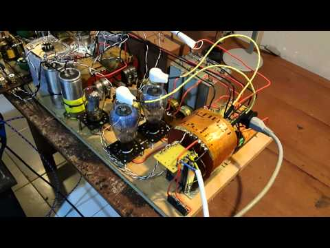High voltage.DIY 211 Tube power amp  trial tested