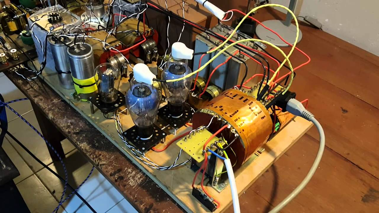 High voltage DIY 211 Tube power amp trial tested