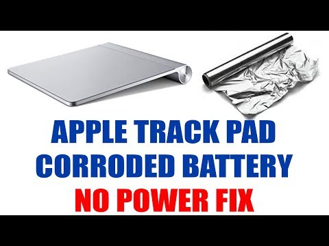 FIX Apple Trackpad not turning on from corroded battery (NO POWER FIX) fixed with foil trick