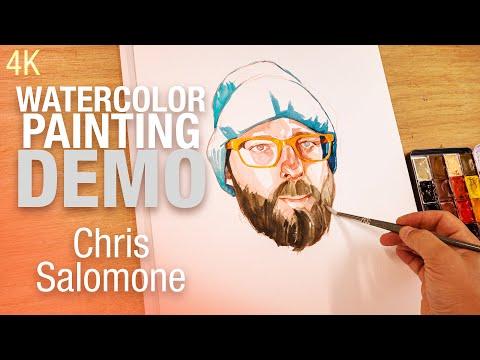 🎨🪑 Demo Aquarelle -  Portrait de Chris Salomone