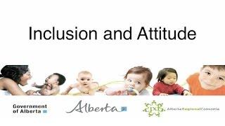 Inclusion and Attitude