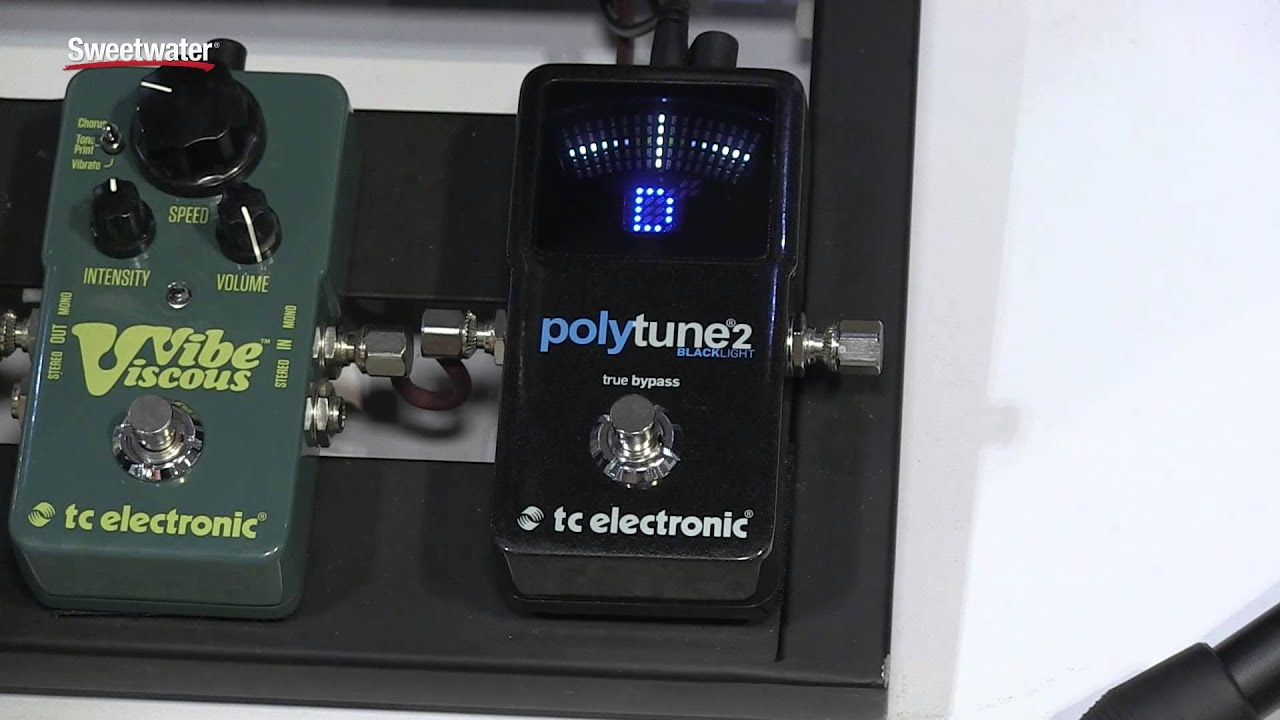 summer namm 2015 tc electronic polytune 2 black light tuner pedal demo by sweetwater youtube. Black Bedroom Furniture Sets. Home Design Ideas