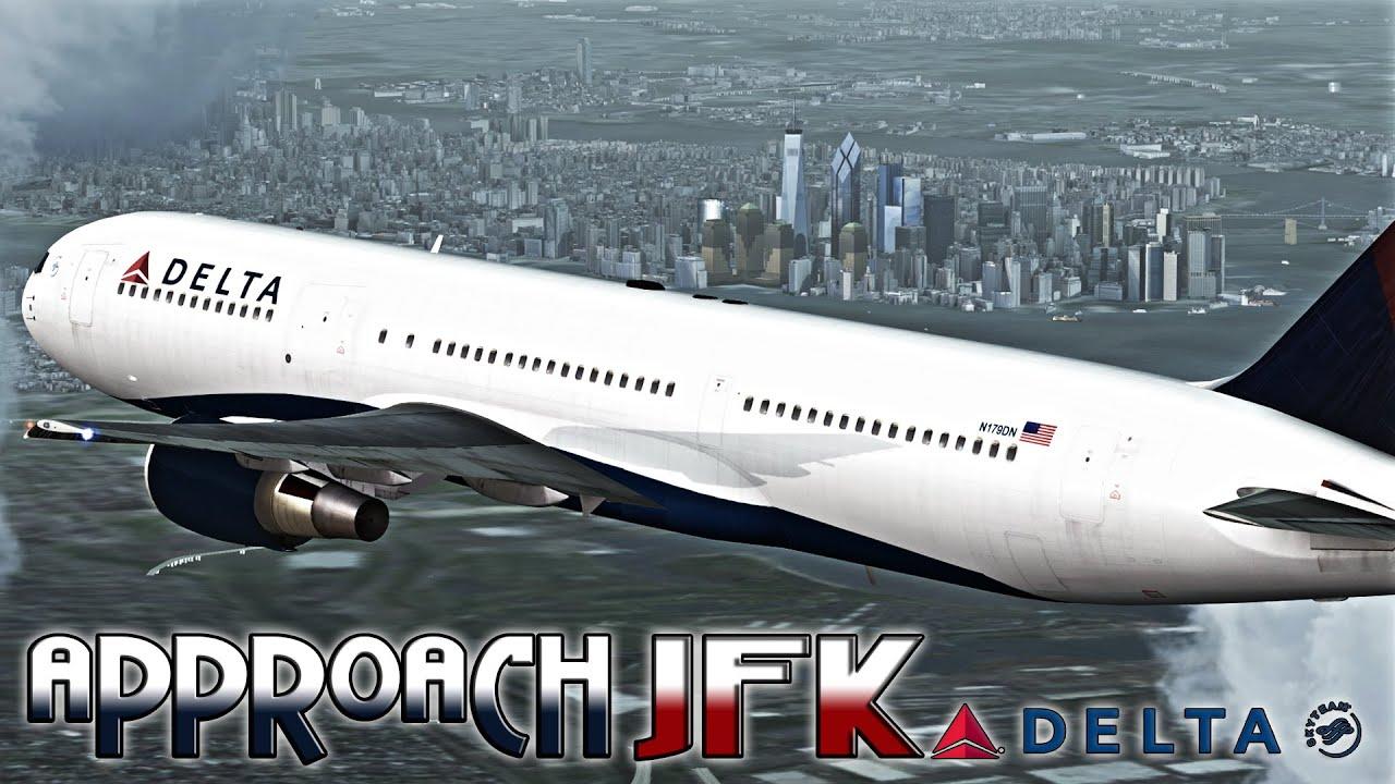 [FSX] Delta 767-200 Approach to JFK Intl