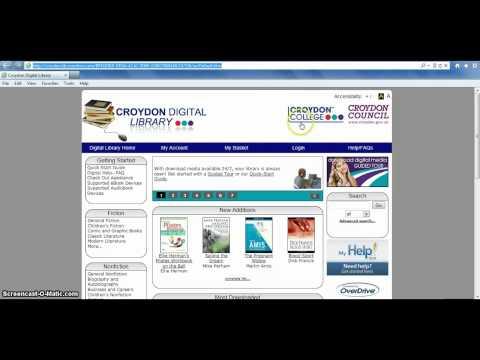 Accessing the Croydon Digital Library @... from Croydon Coll