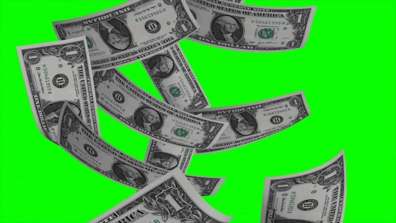 dollar bills falling on - photo #27