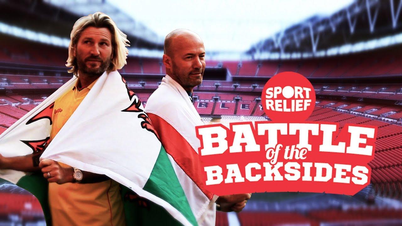 Download Alan Shearer Vs Robbie Savage   Sport Relief Battle of the Backsides