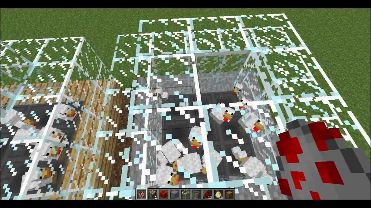 Minecraft 1 5 1 tuto levage automatique de poule youtube - Poule minecraft ...