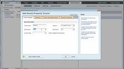 ADDING TENANTS to QUICKEN 2016, 2017, 2018 Rental Property Manager