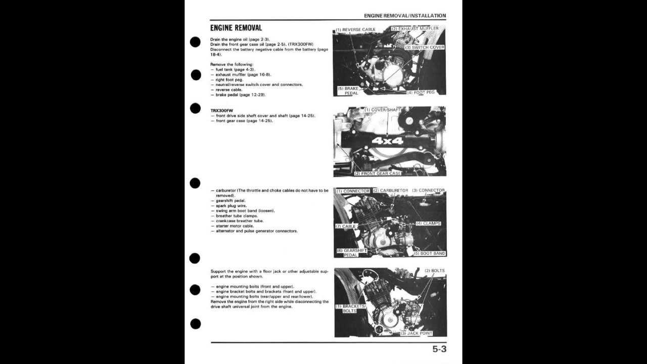 small resolution of honda fourtrax trx300 trx300fw 4x4 1988 1994 online service manual youtube