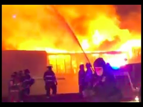 Fire rages at Marcal Paper in Elmwood Park