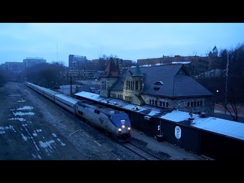 Amtrak Wolverine Train in Ann Arbor, MI