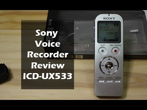 Sony ICD-UX533 Voice Recorder Review - YouTube