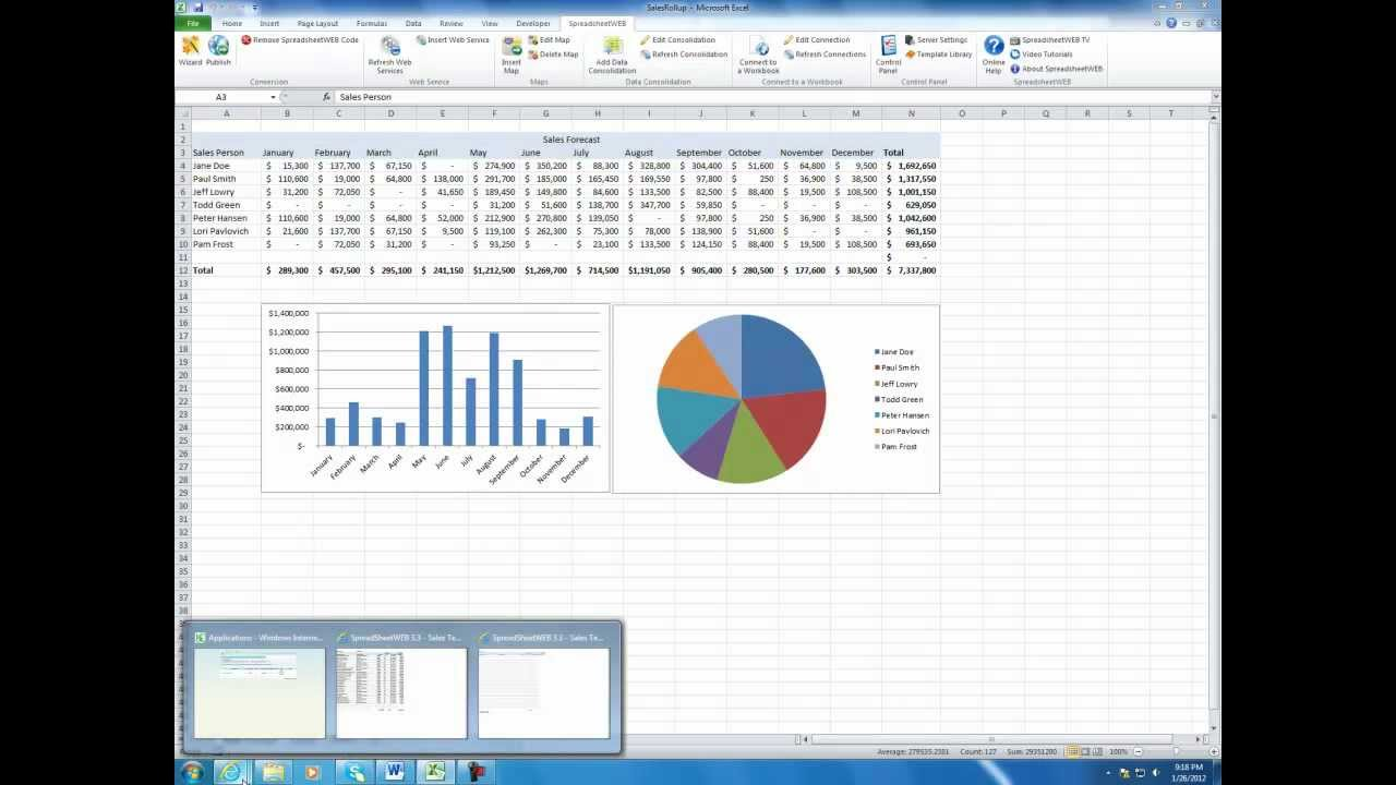 sales report template excel