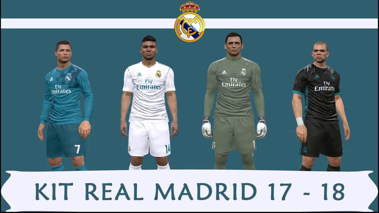 5701d7074ee Kit REAL MADRID 17 - 18 para PES 2017 - YouTube