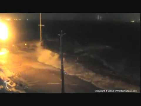 Hurricane Sandy -The height of the storm and 25 aftermath photos from the NY Harbor Webcam