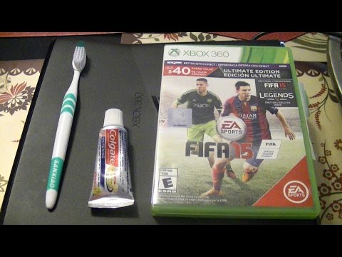 How to fix your scratched XBOX 360 Disc -easy(toothpaste only)