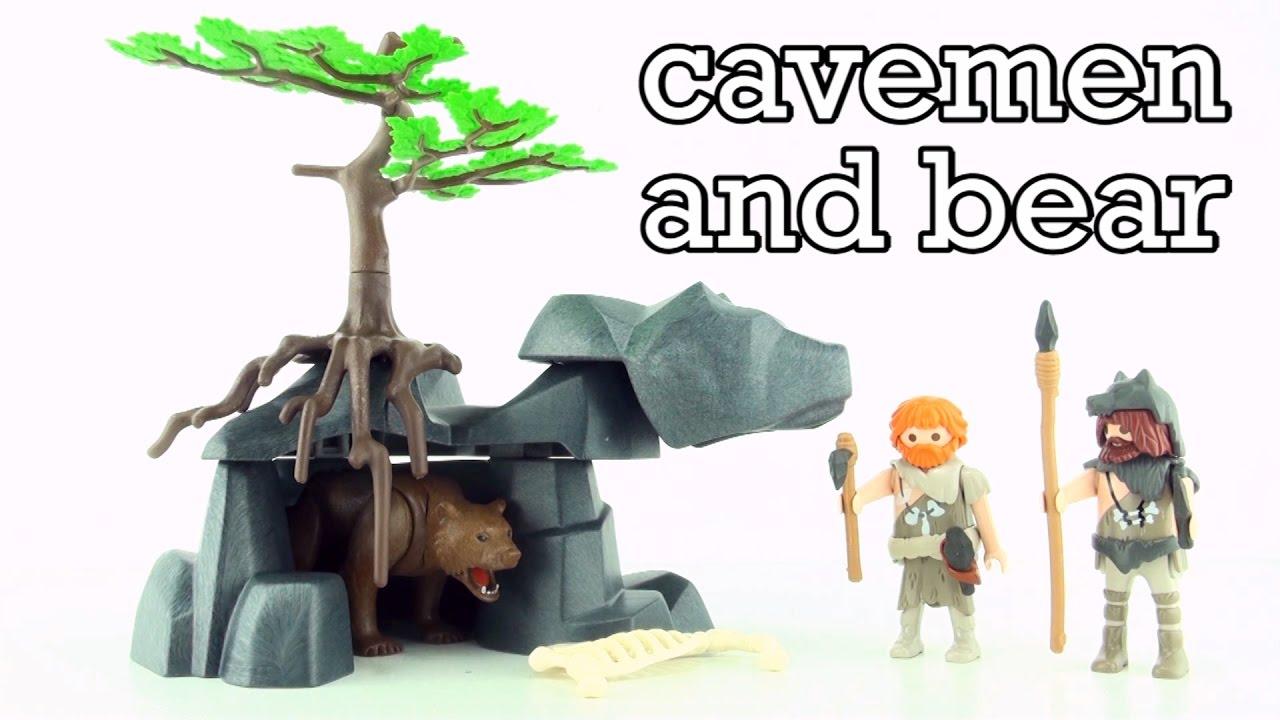 Playmobil Prehistoric Cavemen with Cave Bear 5103 - Playmobil Höhle ...